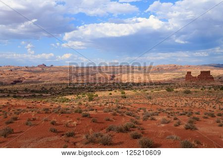 Panorama from Utah state. Red rocks landscape from United States of America