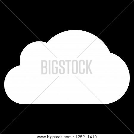 Cloud vector icon. Cloud icon symbol. Cloud icon image. Cloud icon picture. Cloud pictogram. Flat white cloud icon. Isolated cloud icon graphic. Cloud icon illustration.