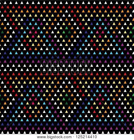 rhinestones diamond mosaic of triangular elements seamless pattern vector illustration