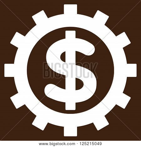 Financial Industry vector icon. Financial Industry icon symbol. Financial Industry icon image. Financial Industry icon picture. Financial Industry pictogram. Flat white financial industry icon.