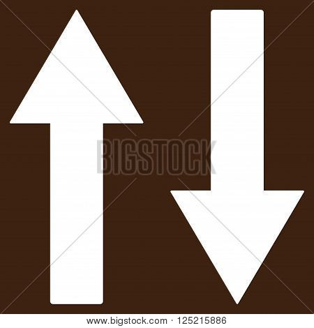 Vertical Flip Arrows vector icon. Vertical Flip Arrows icon symbol. Vertical Flip Arrows icon image. Vertical Flip Arrows icon picture. Vertical Flip Arrows pictogram.