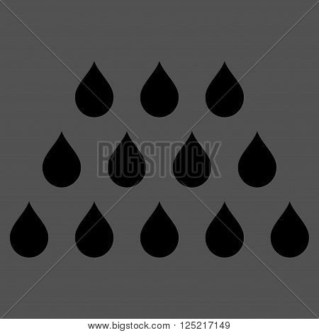 Drops vector icon. Drops icon symbol. Drops icon image. Drops icon picture. Drops pictogram. Flat black drops icon. Isolated drops icon graphic. Drops icon illustration.