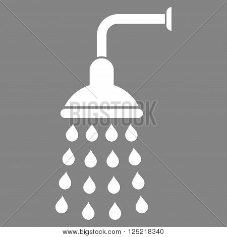 Shower vector icon. Shower icon symbol. Shower icon image. Shower icon picture. Shower pictogram. Flat white shower icon. Isolated shower icon graphic. Shower icon illustration.