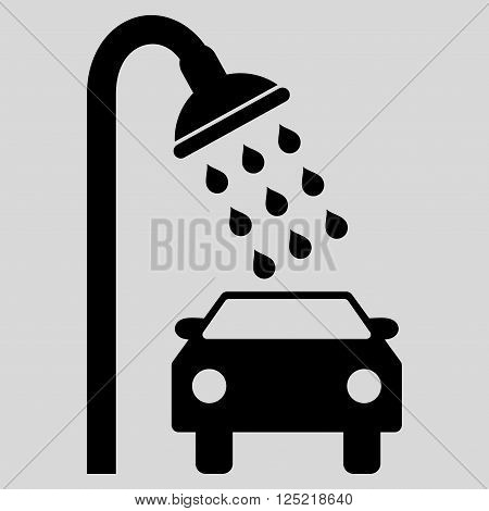 Car Shower vector icon. Car Shower icon symbol. Car Shower icon image. Car Shower icon picture. Car Shower pictogram. Flat black car shower icon. Isolated car shower icon graphic.