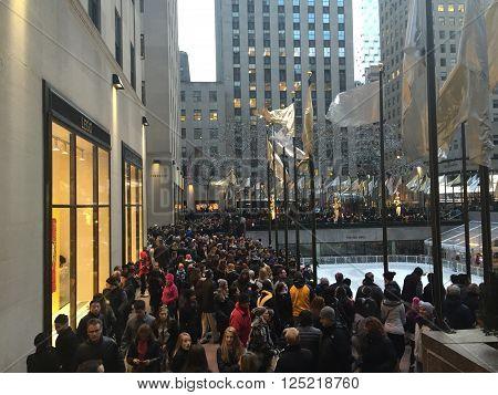 NEW YORK, NY - DEC 20: Rockefeller Center in New York, as seen on Dec 20, 2015.