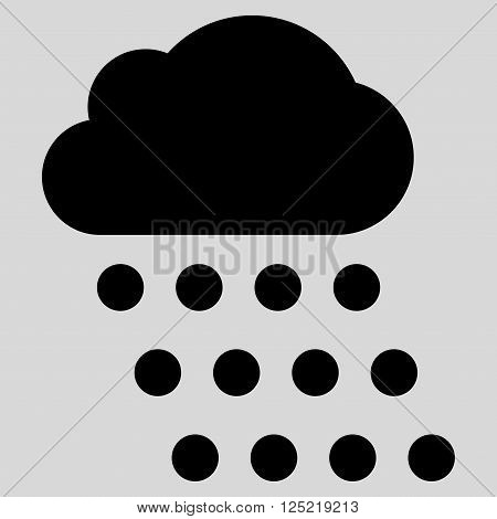 Rain Cloud vector icon. Rain Cloud icon symbol. Rain Cloud icon image. Rain Cloud icon picture. Rain Cloud pictogram. Flat black rain cloud icon. Isolated rain cloud icon graphic.