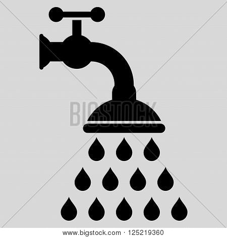 Shower Tap vector icon. Shower Tap icon symbol. Shower Tap icon image. Shower Tap icon picture. Shower Tap pictogram. Flat black shower tap icon. Isolated shower tap icon graphic.