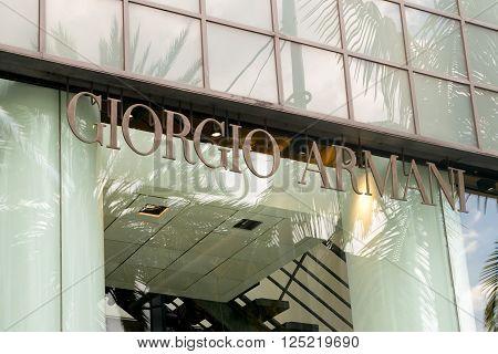 Giorgio Armani Retail Store Exterior