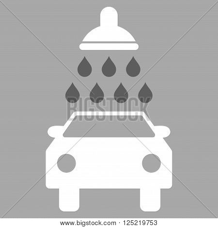 Car Wash vector icon. Car Wash icon symbol. Car Wash icon image. Car Wash icon picture. Car Wash pictogram. Flat dark gray and white car wash icon. Isolated car wash icon graphic.