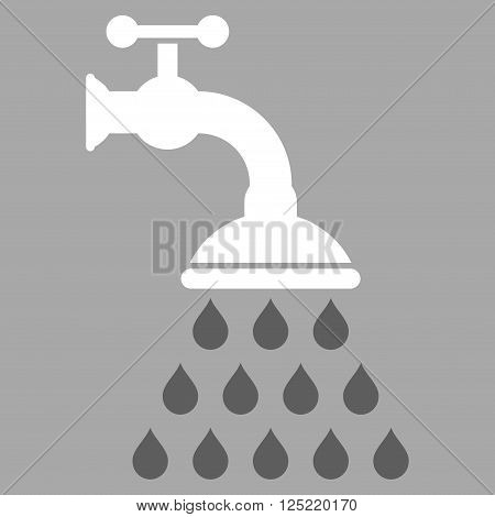 Shower Tap vector icon. Shower Tap icon symbol. Shower Tap icon image. Shower Tap icon picture. Shower Tap pictogram. Flat dark gray and white shower tap icon. Isolated shower tap icon graphic.