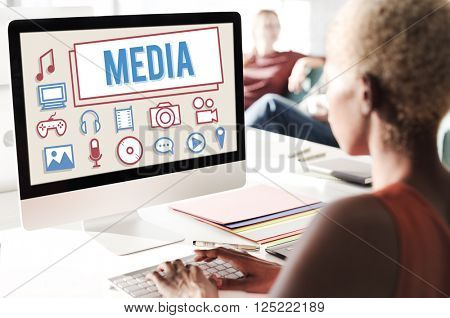 Media Mass Communication Entertainment Multimedia Concept