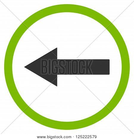 Left Rounded Arrow vector icon. Left Rounded Arrow icon symbol. Left Rounded Arrow icon image. Left Rounded Arrow icon picture. Left Rounded Arrow pictogram.