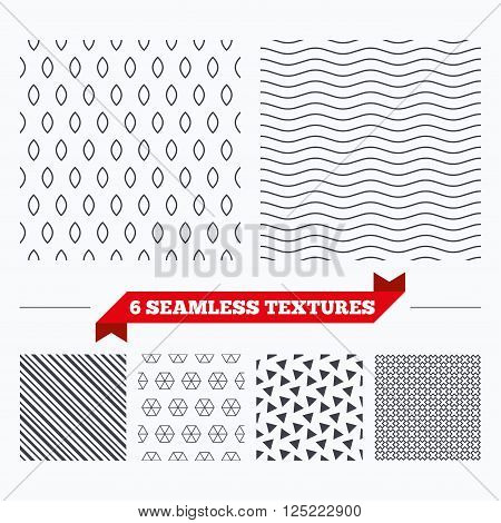 Diagonal lines, waves and geometry design. Ellipse lines texture. Stripped geometric seamless pattern. Modern repeating stylish texture. Material patterns.