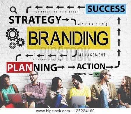Branding Advertising Commercial Trademark Marketing Concept