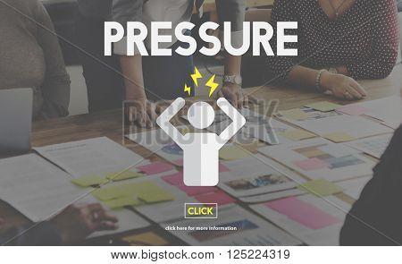 Pressure Afraid Nervous Panic Phobia Stressed Concept