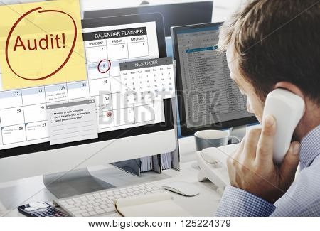 Audit Accounting Bookkeeping Credit Debt Finance Concept