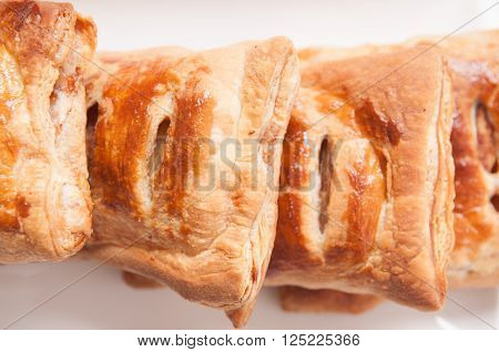 puff pastry apple pastry turnovers for dessert ** Note: Shallow depth of field
