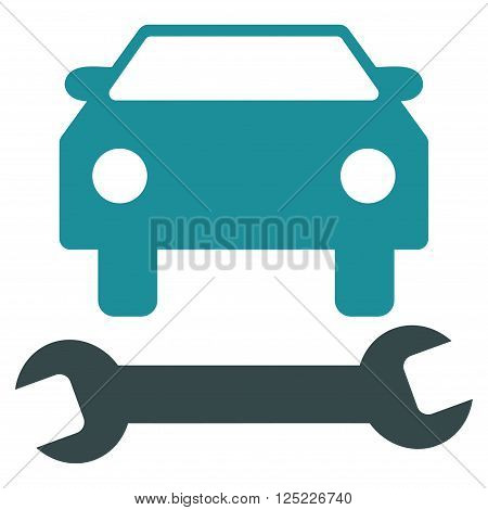 Car Repair vector icon. Car Repair icon symbol. Car Repair icon image. Car Repair icon picture. Car Repair pictogram. Flat soft blue car repair icon. Isolated car repair icon graphic.