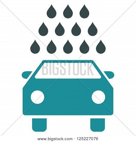 Car Wash vector icon. Car Wash icon symbol. Car Wash icon image. Car Wash icon picture. Car Wash pictogram. Flat soft blue car wash icon. Isolated car wash icon graphic. Car Wash icon illustration.
