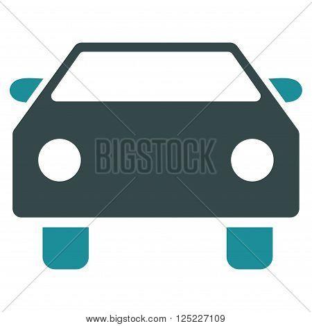 Car vector icon. Car icon symbol. Car icon image. Car icon picture. Car pictogram. Flat soft blue car icon. Isolated car icon graphic. Car icon illustration.
