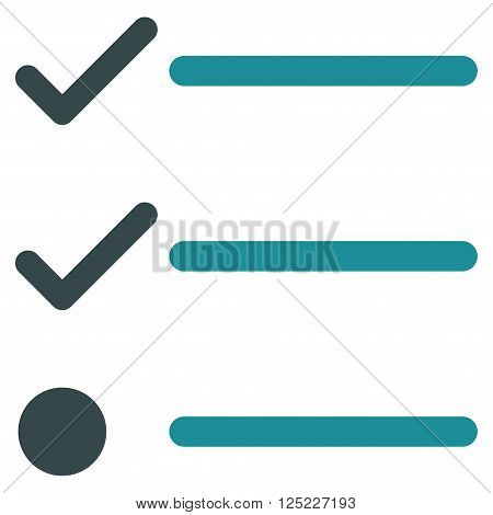 Checklist vector icon. Checklist icon symbol. Checklist icon image. Checklist icon picture. Checklist pictogram. Flat soft blue checklist icon. Isolated checklist icon graphic.