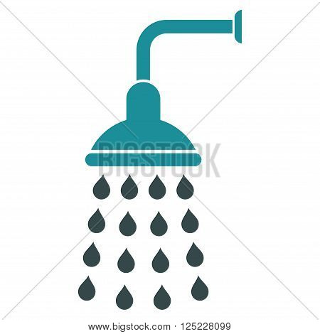 Shower vector icon. Shower icon symbol. Shower icon image. Shower icon picture. Shower pictogram. Flat soft blue shower icon. Isolated shower icon graphic. Shower icon illustration.