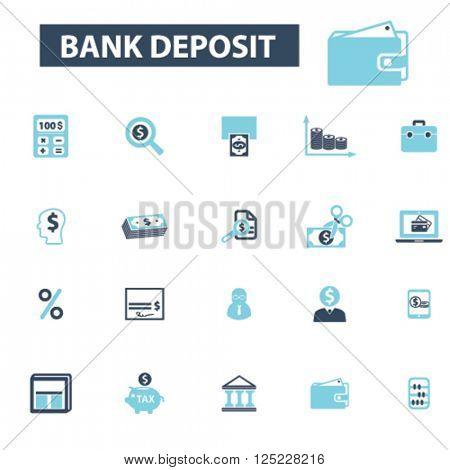 bank deposit icons