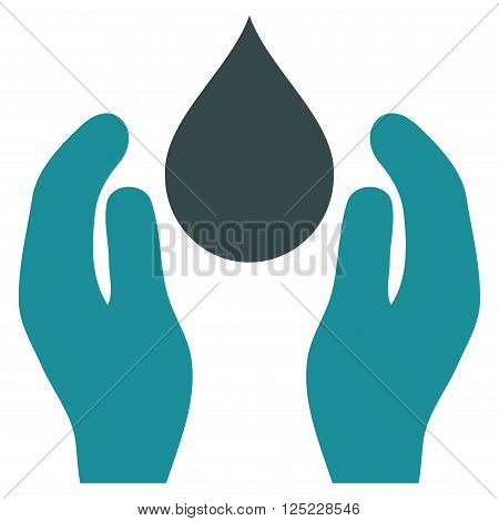 Water Care vector icon. Water Care icon symbol. Water Care icon image. Water Care icon picture. Water Care pictogram. Flat soft blue water care icon. Isolated water care icon graphic.