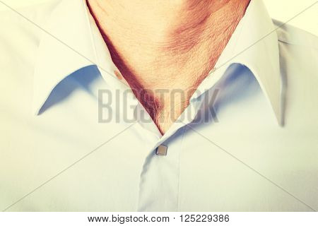 Male shirt with collar