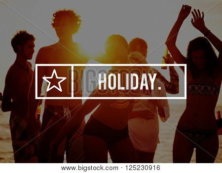 Holiday Vacation Journey Festival Party Concept