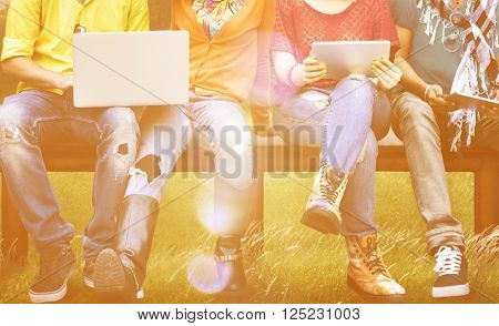 Digital Device Connection Communication Learn Concept