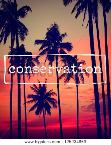Conservation Environmental Protection Maintenance Concept