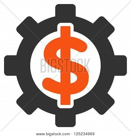 Financial Options vector icon. Financial Options icon symbol. Financial Options icon image. Financial Options icon picture. Financial Options pictogram. Flat orange and gray financial options icon.