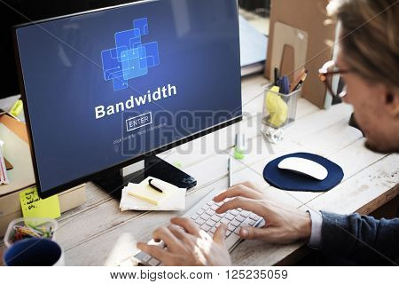 Bandwidth Broadband Connection Data Information Internet Concept