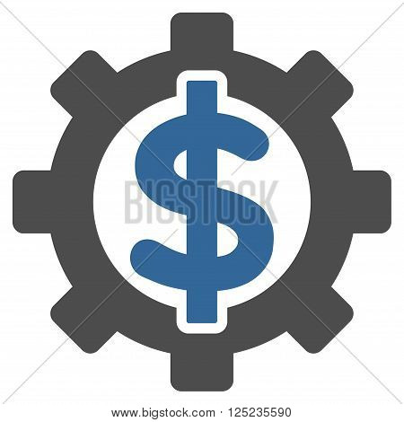 Financial Options vector icon. Financial Options icon symbol. Financial Options icon image. Financial Options icon picture. Financial Options pictogram. Flat cobalt and gray financial options icon.