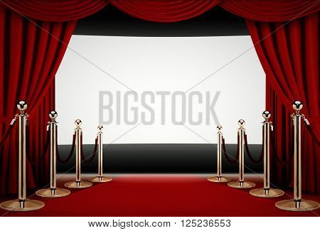 Red carpet to a movie premiere event