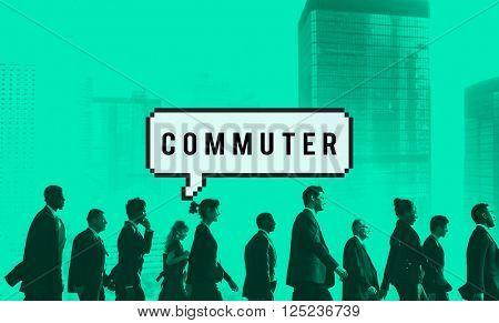 Commuter Pedestrian Passenger Traveller Wanderer Concept