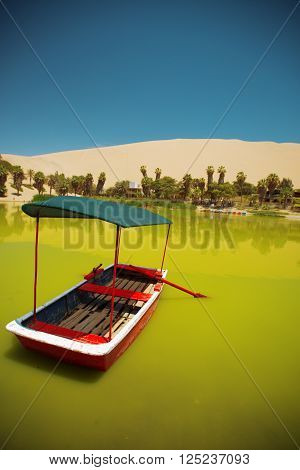 Oasis Of Huacachina In The Desert Of Ica