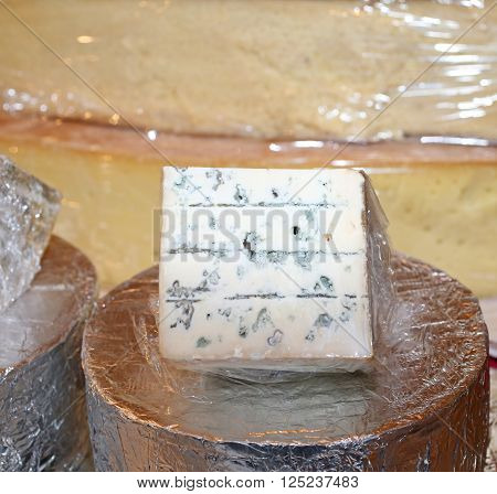 Smelly Gorgonzola Cheese Typical Of Northern Italy On Sale
