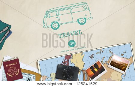 Travel Traveling Adventure Journey Destination Van Concept