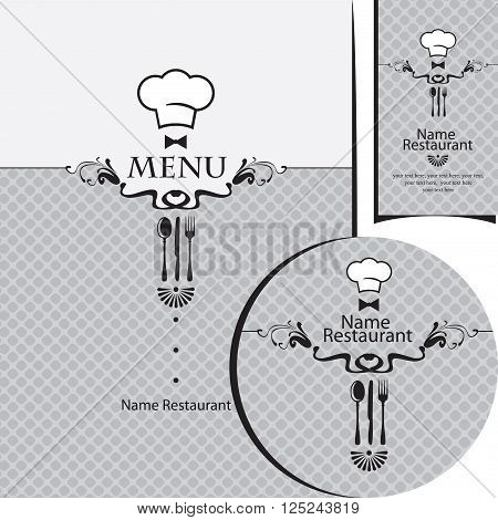 design elements for a restaurant with toque