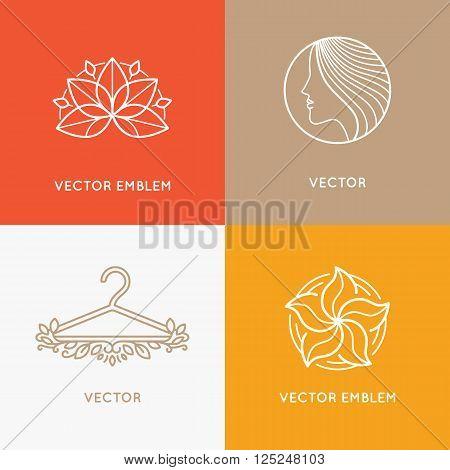 Vector Set Of Logo Design Templates And Emblems