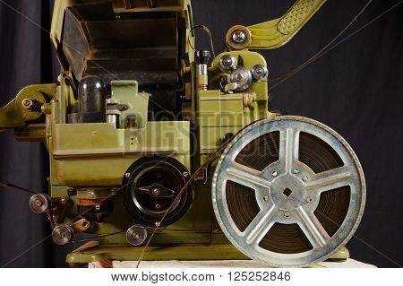 photo of part old war movie projector