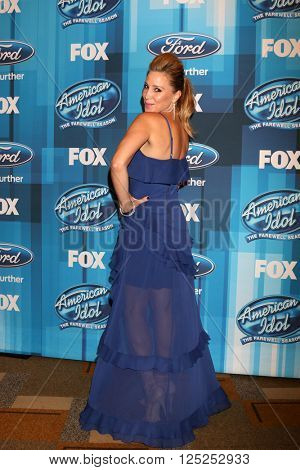 LOS ANGELES - APR 7:  Becky Lythgoe at the American Idol FINALE Arrivals at the Dolby Theater on April 7, 2016 in Los Angeles, CA