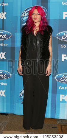 LOS ANGELES - APR 7:  Allison Iraheta at the American Idol FINALE Arrivals at the Dolby Theater on April 7, 2016 in Los Angeles, CA