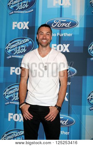 LOS ANGELES - APR 7:  Ace Young at the American Idol FINALE Arrivals at the Dolby Theater on April 7, 2016 in Los Angeles, CA