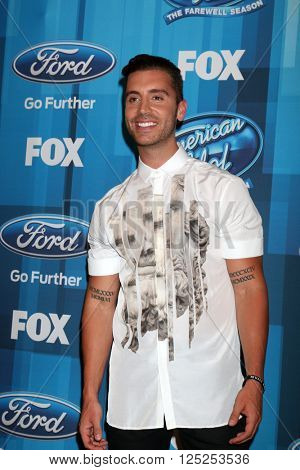 LOS ANGELES - APR 7:  Nick Fradiani at the American Idol FINALE Arrivals at the Dolby Theater on April 7, 2016 in Los Angeles, CA