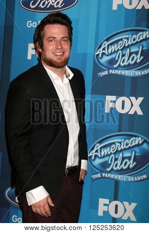 LOS ANGELES - APR 7:  Lee DeWyze at the American Idol FINALE Arrivals at the Dolby Theater on April 7, 2016 in Los Angeles, CA