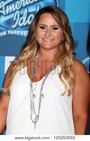 LOS ANGELES - APR 7:  Skylar Laine at the American Idol FINALE Arrivals at the Dolby Theater on April 7, 2016 in Los Angeles, CA