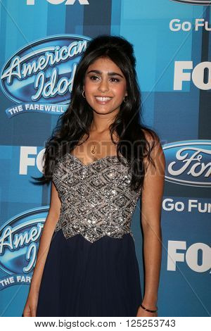 LOS ANGELES - APR 7:  Sonika Vaid at the American Idol FINALE Arrivals at the Dolby Theater on April 7, 2016 in Los Angeles, CA